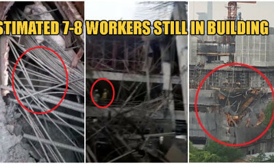 Watch: More Than 4 Construction Workers Trapped Under Collapsing Taman Desa Building - WORLD OF BUZZ 1