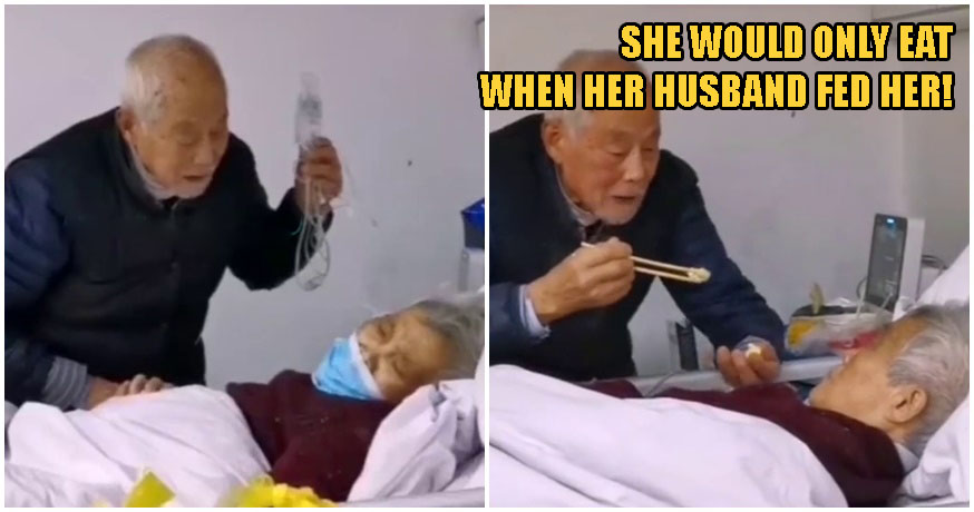 Watch: Moving Scene Shows 87yo Husband Taking Care of His 83yo Wife, Both Infected With Coronavirus - WORLD OF BUZZ 2
