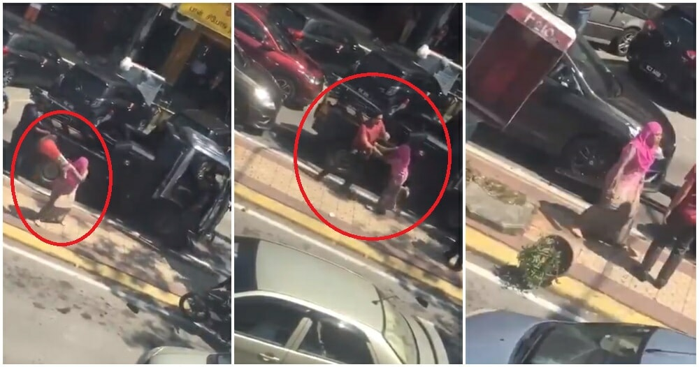 Watch: M'sian Woman Loses Her Sh*t, Screams & Spits At Men Trying To Tow Her Car In Sg Buloh - WORLD OF BUZZ 6