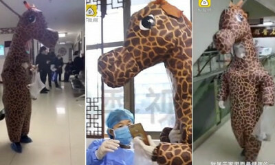 Woman Wears Full Giraffe Costume To Protect Against Coronavirus As She Couldn't Buy Face Masks - WORLD OF BUZZ 4