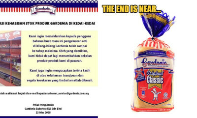 MCO: Gardenia Bread Announces No Restock As Factories Reach Maximum Capacity - WORLD OF BUZZ
