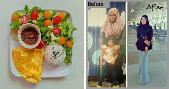 M'sian Woman Loses 13kg In 3 Months By Eating Delicious Food & Its On Facebook! - WORLD OF BUZZ