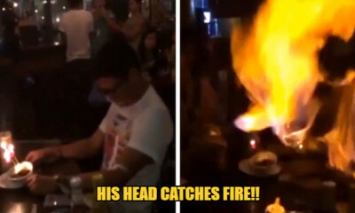 WatThis Boy's Head Catches Fire On His Birthday When His Friends Spray Aerosol Party Spray At Him - WORLD OF BUZZ
