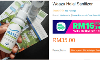 Online Seller Tricking M'sians Into Buying 'Halal' Hand Sanitisers At Insanely Hiked Up Prices - WORLD OF BUZZ