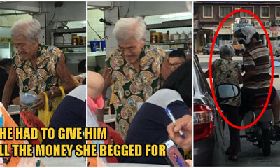 Able-Bodied Ipoh Man Forces Frail & Elderly Grandma To Beg Money For Him - WORLD OF BUZZ