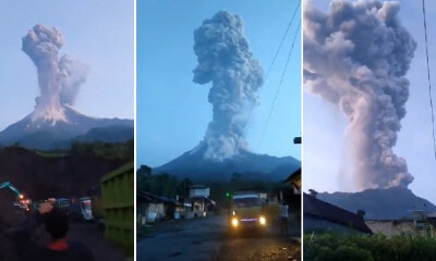 Airport Closes After Mount Merapi Erupts, Spewing Out 6,000 Metre High Ash Column - WORLD OF BUZZ