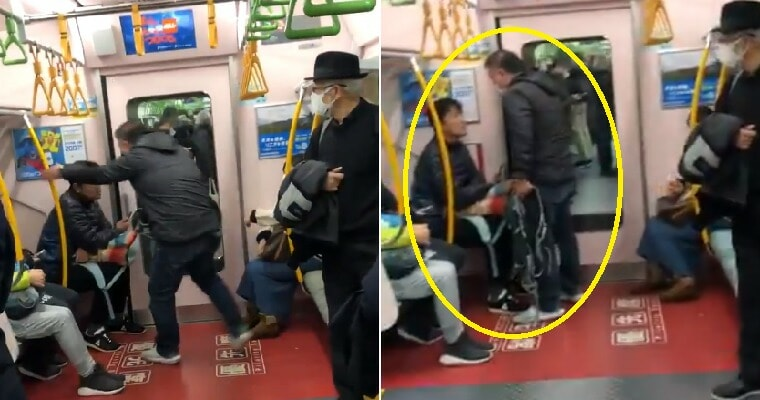 Angry Man Confronts Passenger Who Coughed Several Times Without Mask On The Train - WORLD OF BUZZ 3