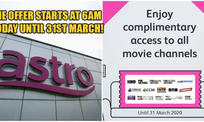 Astro Is Offering FREE Access To All Premium Movie Channels From Today Until March 31st - WORLD OF BUZZ 1