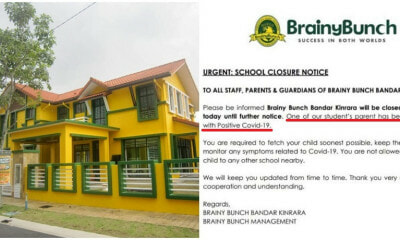Bandar Kinrara Brainy Bunch Kindergarten Temporarily Closes After 1 Parent Tests Positive For Coronavirus - WORLD OF BUZZ 1