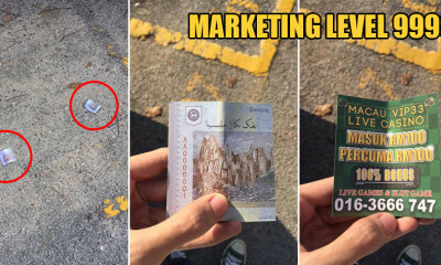 This Casino Company Printed a RM100 Bill On Card to Make People Pick It up & Read Their Ad - WORLD OF BUZZ