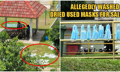 Cheras Men Allegedly Washing & Drying Used Face Masks Before Selling Them To Other People - WORLD OF BUZZ