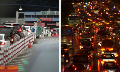 Covid-19: Singapore Causeway Backed Up After M'sia Anounces Country Movement Control Order - WORLD OF BUZZ
