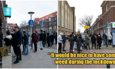 Dutch People Are Lining Up To On Stockpile Weed Before Nationwide Lockdown Begins - WORLD OF BUZZ 3