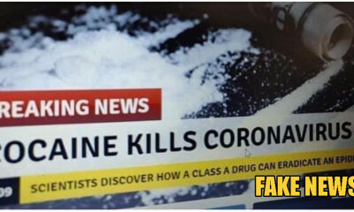 France Government Had To Issue Warning To Citizens That Cocaine DOES NOT Cure Coronavirus - WORLD OF BUZZ