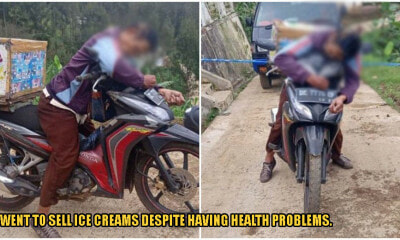 Hardworking Father Died Sleeping On His Motorcycle, Most Probably Due To Exhaustion - WORLD OF BUZZ 1