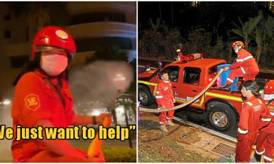 Hardworking M'sian Firemen Voluntarily Stay Out Till 1 In The Morning To Disinfect Penang's Streets - World Of Buzz 1