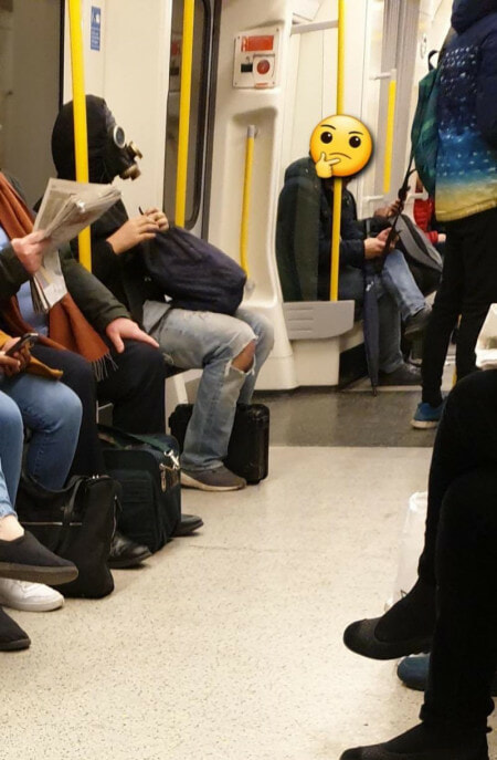Hilarious Photos Shows Creative Ways Londoners Use to Avoid Being Infected with Covid-19 - WORLD OF BUZZ 6