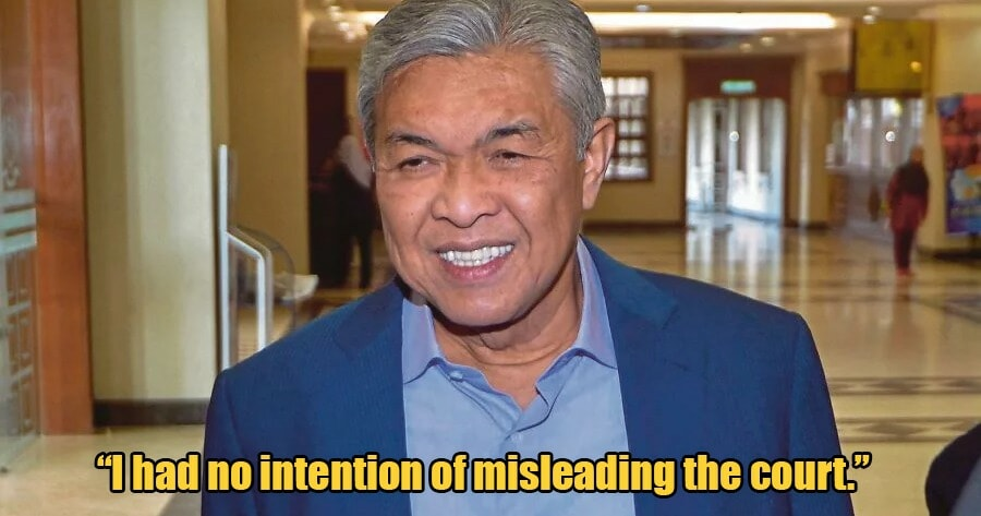 """I'm Sorry for The Confusion,"" Zahid Says After Failing to Prove to Court He Had Meeting with PM - WORLD OF BUZZ 3"