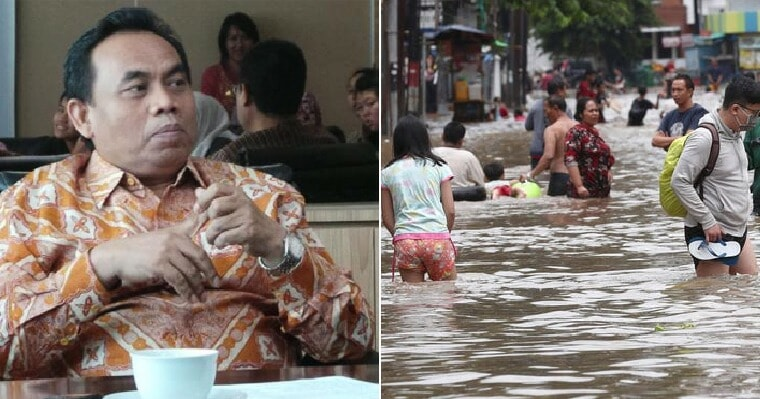 """Jakarta Official: """"Just Enjoy The Floodwaters, 2/3 Of The Human Body is Water Anyway"""" - WORLD OF BUZZ 2"""