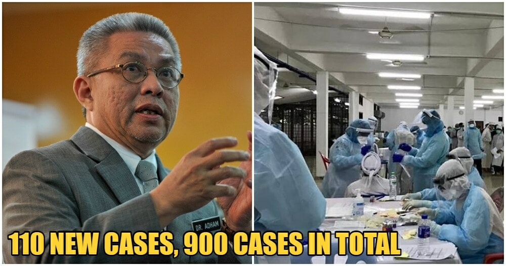 JUST IN: MOH Announces 110 New Cases Of Covid-19 In Malaysia, Total Now At 900 - WORLD OF BUZZ