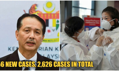 JUST IN: MOH Announces 156 New Cases Of Covid-19 In Malaysia, Total Now At 2,626 - WORLD OF BUZZ