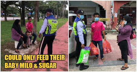 Kind Johor Policemen Donates Milk Powder To Poor Family Who Ran Out of Food During MCO Period - WORLD OF BUZZ