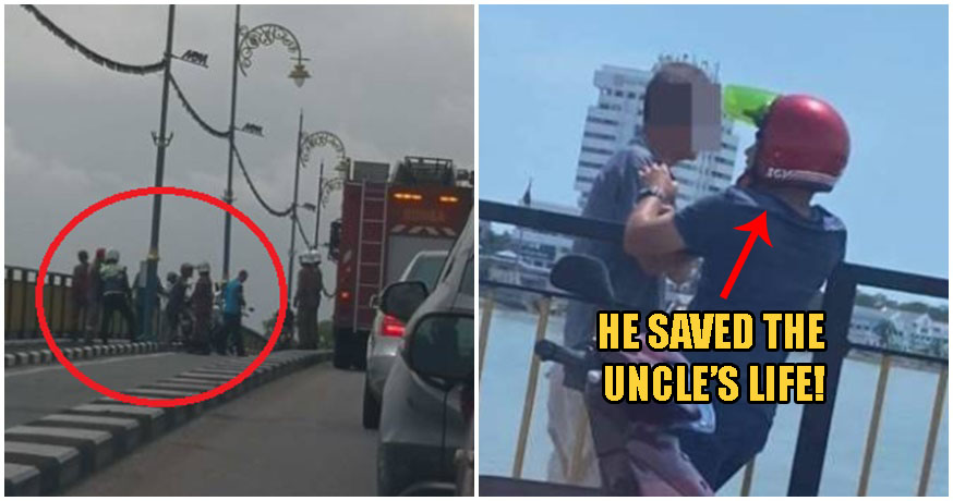 Kind Malay Youth Stops 73yo Chinese Uncle From Committing Suicide, Proves Unity Exists Among M'sians - WORLD OF BUZZ 2