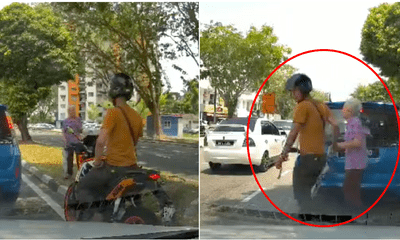 Kind Motorcyclist Did Not Hesitate To Help Old Chinese Grandmother To Cross The Road - WORLD OF BUZZ 3