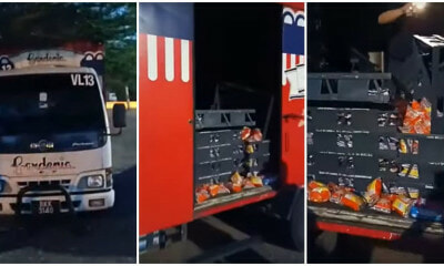 KL Thieves Allegedly Stole An ENTIRE Gardenia Bread Truck, Abandons It Later Outside A Mosque - WORLD OF BUZZ