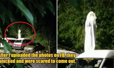 Man Dresses Up As Ghost To Scare His Neighbourhood Youngsters Into Adhering The MCO - WORLD OF BUZZ