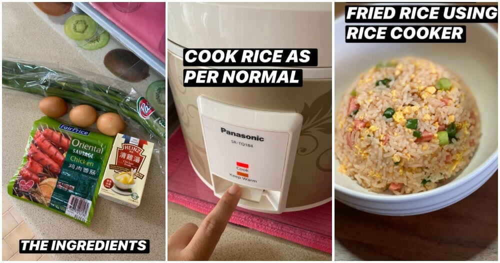 Man Shows Fool-Proof Way To Make Chinese Fried Rice But With a Rice Cooker & Minimal Ingredients - WORLD OF BUZZ 4
