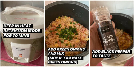 Man Shows Fool-Proof Way To Make Chinese Fried Rice But With a Rice Cooker & Minimal Ingredients - WORLD OF BUZZ