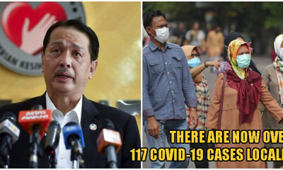 MoH: Covid-19 Coronavirus Cases In Malaysia Officially ABOVE 100, Total Now At 117 - WORLD OF BUZZ
