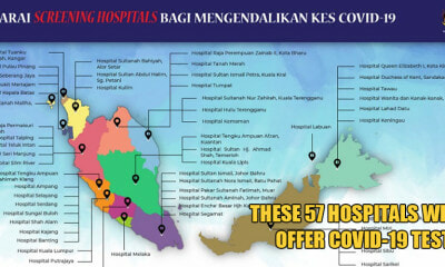 M'sia Ministry of Health Has Listed These 57 Hospitals That Will Be Offering Covid-19 Testing - WORLD OF BUZZ