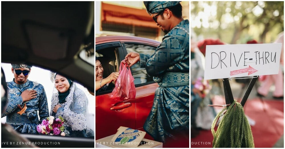 "M'sian Couple Had ""Covid-19 Friendly"" Wedding With A Drive-Thru Option And - WORLD OF BUZZ"