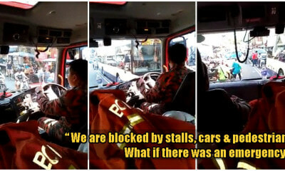 M'sian Fireman Shows How Illegal Stalls & Parked Vehicles Block Them From Reaching Emergencies - WORLD OF BUZZ 1