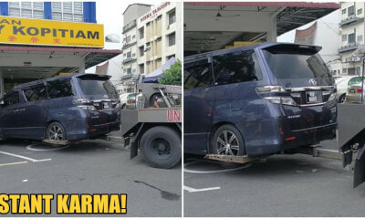M'sian Parks Vehicle at OKU Parking, Gets Instant Karma As Officials Tows His Car Away - WORLD OF BUZZ