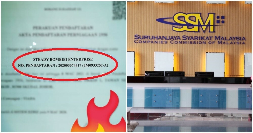 "M'sian Woman Shares How She Registered Her Boss' Company As ""STEADY BOMBIBI ENTERPRISE"" - WORLD OF BUZZ 3"