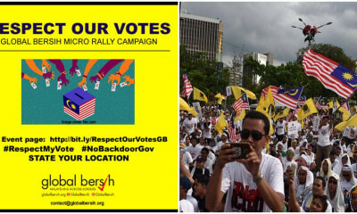 "M'sians Worldwide Unite Online For ""Global BERSIH"", Campaign Calls To Respect The Rakyat's Vote - WORLD OF BUZZ 2"