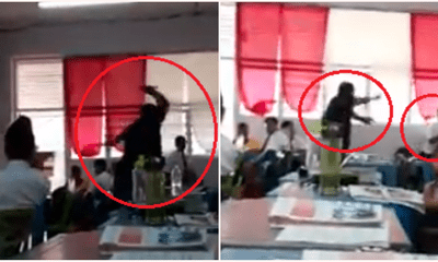 Netizens Are Divided Over This Video Of Teacher Raging At Student, Throwing Random Classroom Items At Him - WORLD OF BUZZ