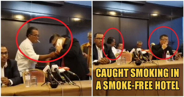 New Melaka State Govt Members Openly Smoke Cigarettes In Smoke-Free Zone Hotel During Conference - WORLD OF BUZZ 2