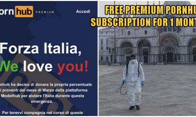 PornHub Is Offering Free Premium Subscription To ALL Italians Under Covid-19 Quarantine For 1 Month - WORLD OF BUZZ 2