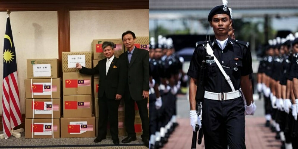 Royal Malaysia Police Receive 20,000 Medical Devices from China - WORLD OF BUZZ 1