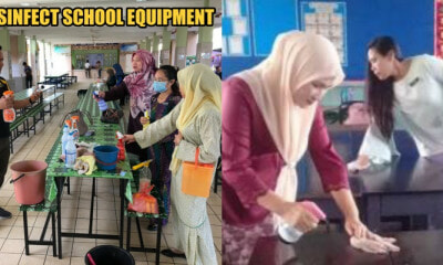 Teachers from a Sabah Primary School Launches Disinfection Programme to Protect Their Students - WORLD OF BUZZ 4
