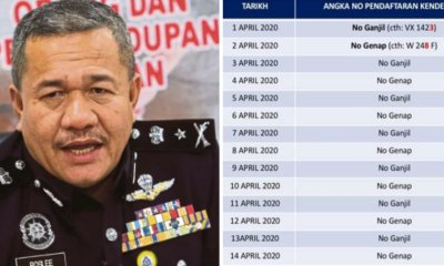 Terengganu Police Will Implement A Unique System Where Vehicles Will Alternate Based On Even & Odd Number Plate To Be On The Road - WORLD OF BUZZ
