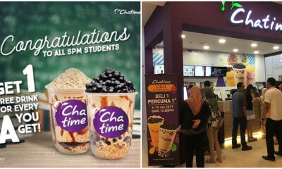 "This Is Not A Drill! Chatime Malaysia Is Offering 1 Free Drink For Every ""A"" You Get For SPM! - WORLD OF BUZZ 5"
