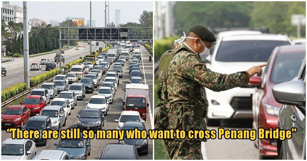 Thousands of M'sians Seen Leaving Penang Island Despite Authorities Orders To Follow MCO - WORLD OF BUZZ 3