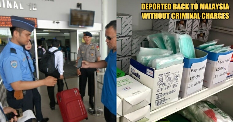 Two Malaysians Detained in Indonesia for Allegedly Smuggling 12,000 Face Masks Back to Malaysia - WORLD OF BUZZ 4