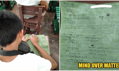 Underprivileged Boy Cannot Afford Notebook, Creatively Uses Banana Leaves To Copy Notes - WORLD OF BUZZ 1