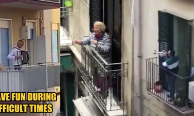 Watch: Italians Sing and Vibe With Neighbours on Balconies Amidst Covid-19 Lockdown - WORLD OF BUZZ 1